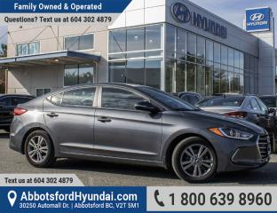 Used 2017 Hyundai Elantra GL ONE OWNER & BC OWNED for sale in Abbotsford, BC