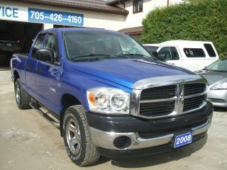 Used 2008 Dodge Ram 1500 SXT, Quad Cab ,4X4 for sale in Beaverton, ON
