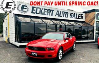 Used 2010 Ford Mustang CONVERTIBLE WITH LEATHER / BLUETOOTH for sale in Barrie, ON