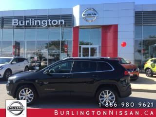 Used 2015 Jeep Cherokee Limited, NAVi, HTD. SEATS & WHEEL, ACCIDENT FREE ! for sale in Burlington, ON
