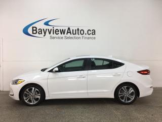 Used 2017 Hyundai Elantra GLS - ALLOYS! SUNROOF! PUSH BTN START! HTD SEATS! BSD! HEATED WHEEL! CRUISE! for sale in Belleville, ON