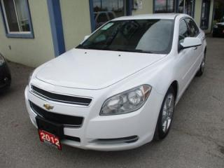 Used 2012 Chevrolet Malibu LOADED 2-LT MODEL 5 PASSENGER 2.4L - ECO-TEC.. LEATHER TRIM.. HEATED SEATS.. CD/AUX INPUT.. KEYLESS ENTRY.. for sale in Bradford, ON