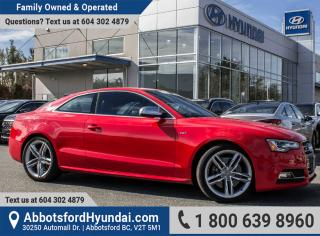 Used 2015 Audi S5 3.0T Technik LOW KILOMETRES & BC OWNED for sale in Abbotsford, BC
