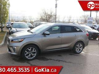 New 2019 Kia Sorento SX V6; AWD, LEATHER, PANO ROOF, NAV, PUSH START, 7 PASS, HEATED SEATS/WHEEL, VENTILATED SEATS, HARMON/KARDON, BACKUP CAMERA, BLIND-SPOT/CROSS TRAFFIC ALERT, ANDROID AUTO/APPLE CAR PLAY for sale in Edmonton, AB