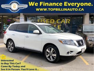 Used 2014 Nissan Pathfinder Platinum, Navi, DVD, Dual Sunroof for sale in Vaughan, ON