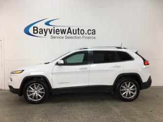 Used 2017 Jeep Cherokee Limited - ALLOYS! KEYLESS ENTRY! PANO ROOF! HTD/VENTILATED LTHR! HTD WHEEL! NAV! REV CAM! PWR LIFTGATE! for sale in Belleville, ON