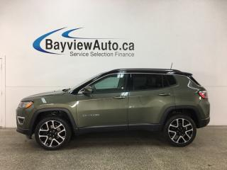 Used 2017 Jeep Compass Limited - ALLOYS! REM START! HTD LTHR! DUAL A/C! NAV! REV CAM! HTD WHEEL! PWR LIFTGATE! for sale in Belleville, ON