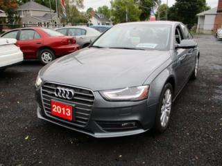 Used 2013 Audi A4 LOADED ALL-WHEEL DRIVE 5 PASSENGER 2.0L TURBO.. LEATHER.. HEATED SEATS.. BLUETOOTH.. POWER SUNROOF.. for sale in Bradford, ON