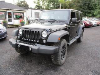 Used 2016 Jeep Wrangler 6-SPEED MANUAL UNLIMITED WILLY'S EDITION 5 PASSENGER 3.6L - V6.. 4X4.. CLOTH.. BLUETOOTH.. AM/FM/CD.. for sale in Bradford, ON