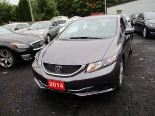 Used 2014 Honda Civic FUEL EFFICIENT LX MODEL 5 PASSENGER 1.8L - SOHC.. ECON-MODE.. HEATED SEATS.. AUX INPUT.. for sale in Bradford, ON