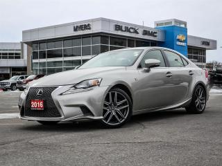 Used 2016 Lexus IS 300 IS300 F-SPORT!!, 3.5 V6 AWD, SUNROOF, NAV, **MINT!!!*** for sale in Ottawa, ON