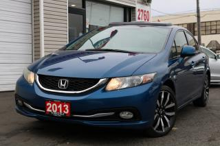 Used 2013 Honda Civic Touring Leather. Navigation. Roof. Very Clean for sale in Toronto, ON