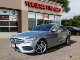 Used 2015 Mercedes-Benz C-Class C 300 4Matic. Panoramic. Navigation. Grey On Red for sale in Toronto, ON