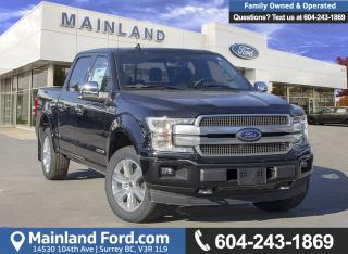 New 2018 Ford F-150 PLATINUM for sale in Surrey, BC