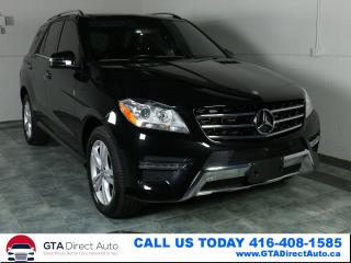 Used 2014 Mercedes-Benz ML-Class ML 350 BlueTEC Diesel AWD NAV Pano P1Cam Certified for sale in Toronto, ON