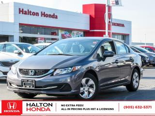 Used 2014 Honda Civic LX|SERVICE HISTORY ON FILE|ACCIDENT FREE for sale in Burlington, ON