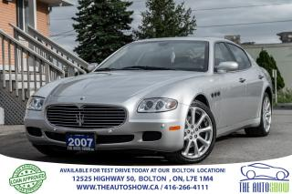 Used 2007 Maserati Quattroporte Pininfarina Only 45k Certified Accident free Mint for sale in Bolton, ON