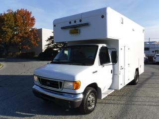 Used 2006 Ford E450 14 Foot Cube Van Diesel with Workshop for sale in Burnaby, BC