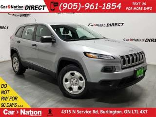 Used 2015 Jeep Cherokee Sport| 4X4| BACK UP CAMERA| LOCAL TRADE| for sale in Burlington, ON