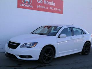 Used 2013 Chrysler 200 S, Leather, Black Wheels! for sale in Edmonton, AB