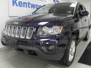 Used 2015 Jeep Compass SPORT Trail rated 4x4 with heated seats and a beautiful blue for sale in Edmonton, AB