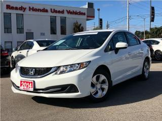 Used 2014 Honda Civic Sedan LX - Heated Seats - Bluetooth for sale in Mississauga, ON