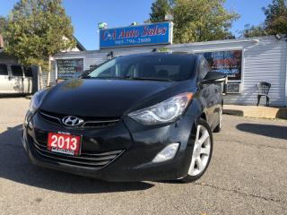 Used 2013 Hyundai Elantra 4dr Sdn LIMITED with navi  leather sunroof for sale in Brampton, ON