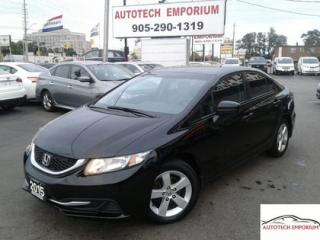 Used 2015 Honda Civic LX Auto Camera/Htd Seats/Bluetooth &GPS* for sale in Mississauga, ON