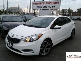 Used 2015 Kia Forte EX Pearl White Sunroof/Alloys/Cam for sale in Mississauga, ON