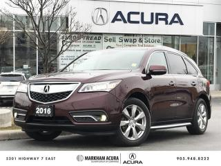 Used 2016 Acura MDX Elite 360 Cam, DVD, 4 New Tires, Park Sensors for sale in Markham, ON