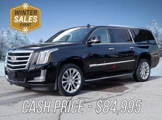 New 2018 Cadillac Escalade ESV Luxury Cash Price $84,995 for sale in Peterborough, ON