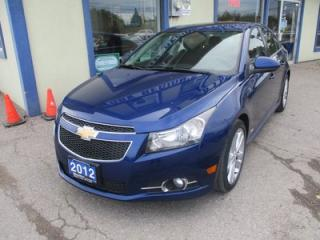 Used 2012 Chevrolet Cruze GREAT VALUE 2-LT/RS MODEL 5 PASSENGER 1.4L - TURBO.. CD/AUX/USB INPUT.. POWER SUNROOF.. KEYLESS ENTRY.. for sale in Bradford, ON