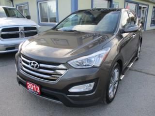 Used 2013 Hyundai Santa Fe LOADED LIMITED EDITION 5 PASSENGER 2.0L - TURBO.. AWD.. LEATHER.. NAVIGATION.. BACK-UP CAMERA.. POWER SUNROOF.. BLUETOOTH.. ACTIVE-ECO MODE.. for sale in Bradford, ON