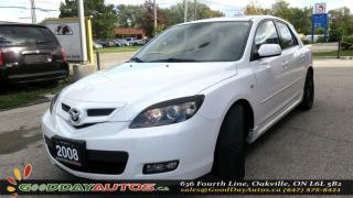 Used 2008 Mazda MAZDA3 GT|NO ACCIDENT|LEATHER SEATS|SUNROOF|ALLOYS for sale in Oakville, ON