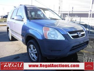 Used 2002 Honda CR-V 4D Utility 4WD for sale in Calgary, AB