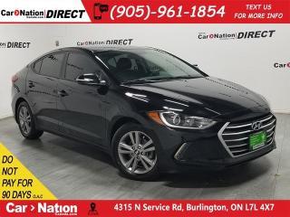Used 2017 Hyundai Elantra GL| BLIND SPOT DETECTION| BACK UP CAM| for sale in Burlington, ON