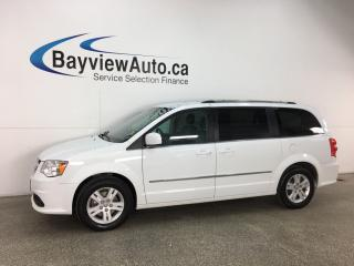 Used 2017 Dodge Grand Caravan Crew - FLEX FUEL! ECO MODE! HTD LTHR! PWR DOORS! PWR LIFTGATE! REV CAM! U-CONNECT! CRUISE! for sale in Belleville, ON