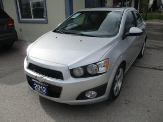 Used 2012 Chevrolet Sonic GREAT VALUE 2-LT MODEL 5 PASSENGER 1.8L - ECO-TEC.. CD/AUX INPUT.. POWER SUNROOF.. KEYLESS ENTRY.. for sale in Bradford, ON