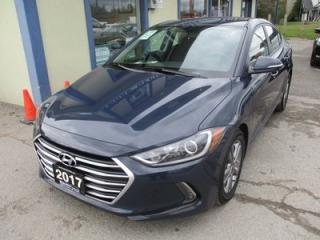 Used 2017 Hyundai Elantra FUEL EFFICIENT LIMITED EDITION 5 PASSENGER 1.8L - DOHC.. 'DRIVE-MODE'.. BACK-UP CAMERA.. BLUETOOTH.. HEATED SEATS.. HEATED STEERING WHEEL.. for sale in Bradford, ON