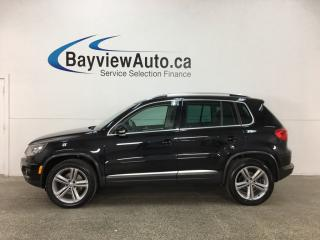 Used 2017 Volkswagen Tiguan Highline - ALLOYS! PANOROOF! HTD LTHR! FENDER SOUND! REV CAM! BLUETOOTH! for sale in Belleville, ON