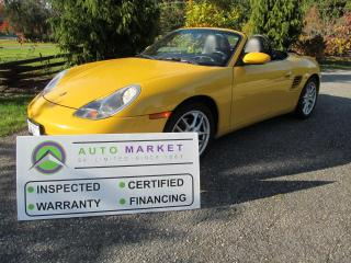 Used 2003 Porsche Boxster PRISTINE, INSPECTED, FREE WARRANTY, WOW! for sale in Surrey, BC