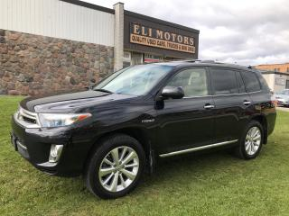 Used 2013 Toyota Highlander Hybrid Limited. AWD. 7 Passenger. Fully Loaded! for sale in North York, ON