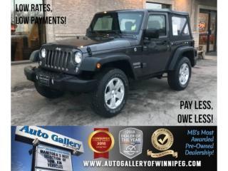 Used 2017 Jeep Wrangler SPORT for sale in Winnipeg, MB