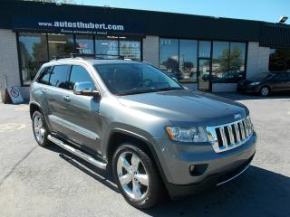 Used 2012 Jeep Grand Cherokee LIMITED OVERLAND 4X4 5.7L **CUIR+TOIT+NA for sale in St-Hubert, QC