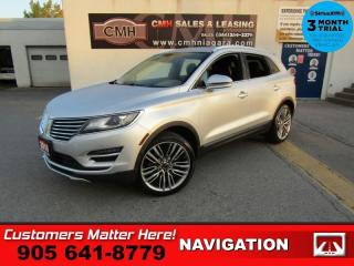 Used 2016 Lincoln MKC Reserve  AWD ADAP-CC LD SELF-PARK NAV CS PANO-ROOF P/GATE CAM for sale in St. Catharines, ON
