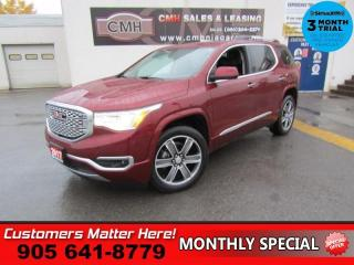Used 2017 GMC Acadia Denali  AWD TECH-PKG ADAP-CC 360-CAM CS NAV PANO-ROOF for sale in St. Catharines, ON