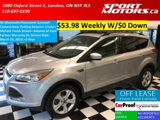 Used 2014 Ford Escape SE+Panoramic Sunroof+MyFord Touch Screen+Camera+AC for sale in London, ON