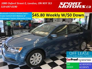 Used 2015 Volkswagen Jetta Camera+Bluetooth+Cruise+Heated Seats+AC for sale in London, ON
