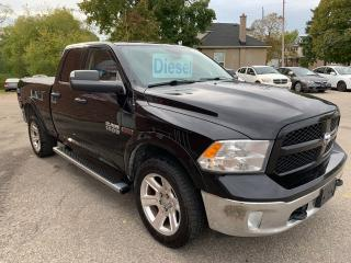Used 2014 Dodge Ram 1500 ECODIESEL/4X4/QUAD CAB/ONE OWNER/CERTIFIED/WARRANT for sale in Cambridge, ON