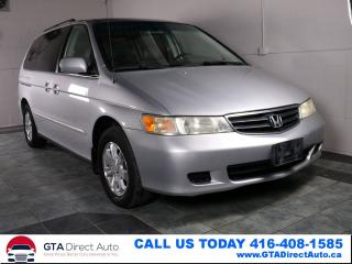 Used 2004 Honda Odyssey EX-L RES DVD Leather Heated AC Certified for sale in Toronto, ON